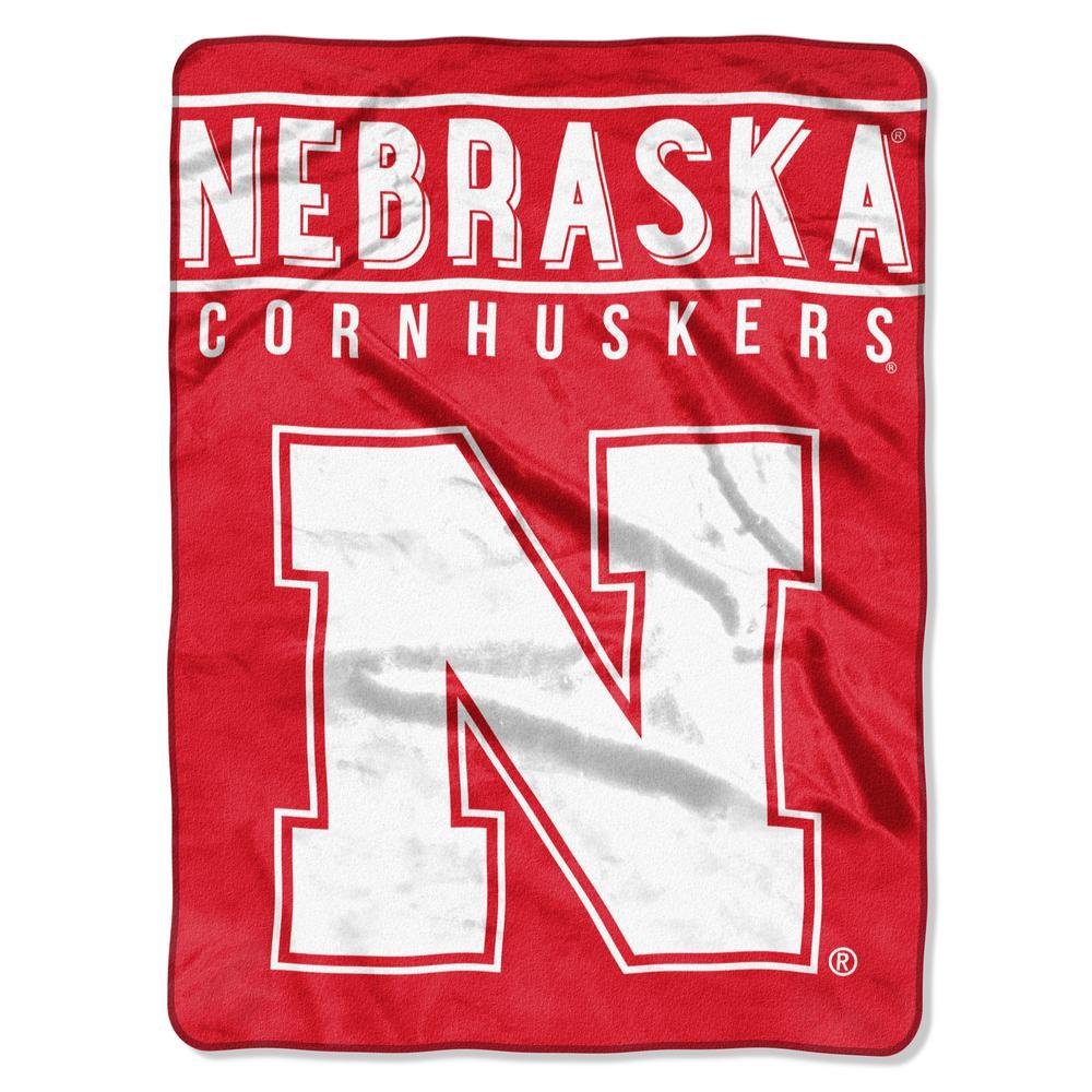 Nebraska Multi Color Polyester Basic Raschel Blanket