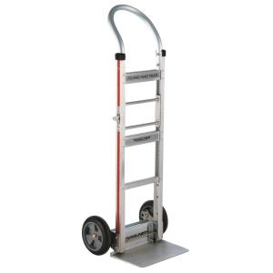 Magliner 500 lb. Capacity Aluminum Folding Hand Truck with Horizontal Loop Handle Vinyl Sleeve and 8 inch... by Magliner