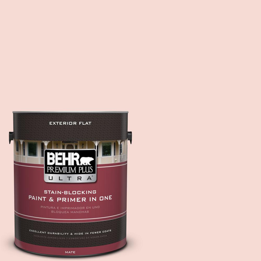 BEHR Premium Plus Ultra 1-gal. #200E-1 Possibly Pink Flat Exterior Paint