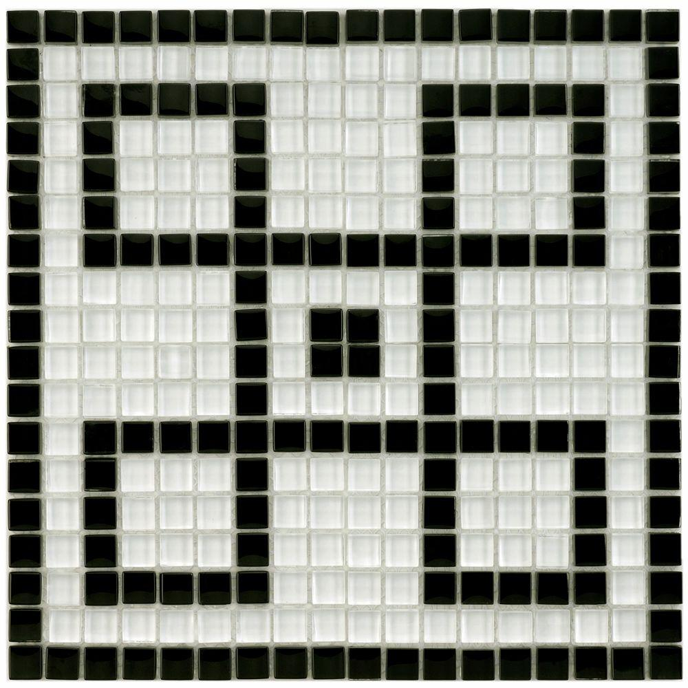 Merola Tile Tessera Ice White Greek Key 11 3 4 In X