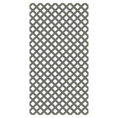0.2 in. x 48 in. x 8 ft. Nantucket Gray Vinyl Classic Diamond Lattice