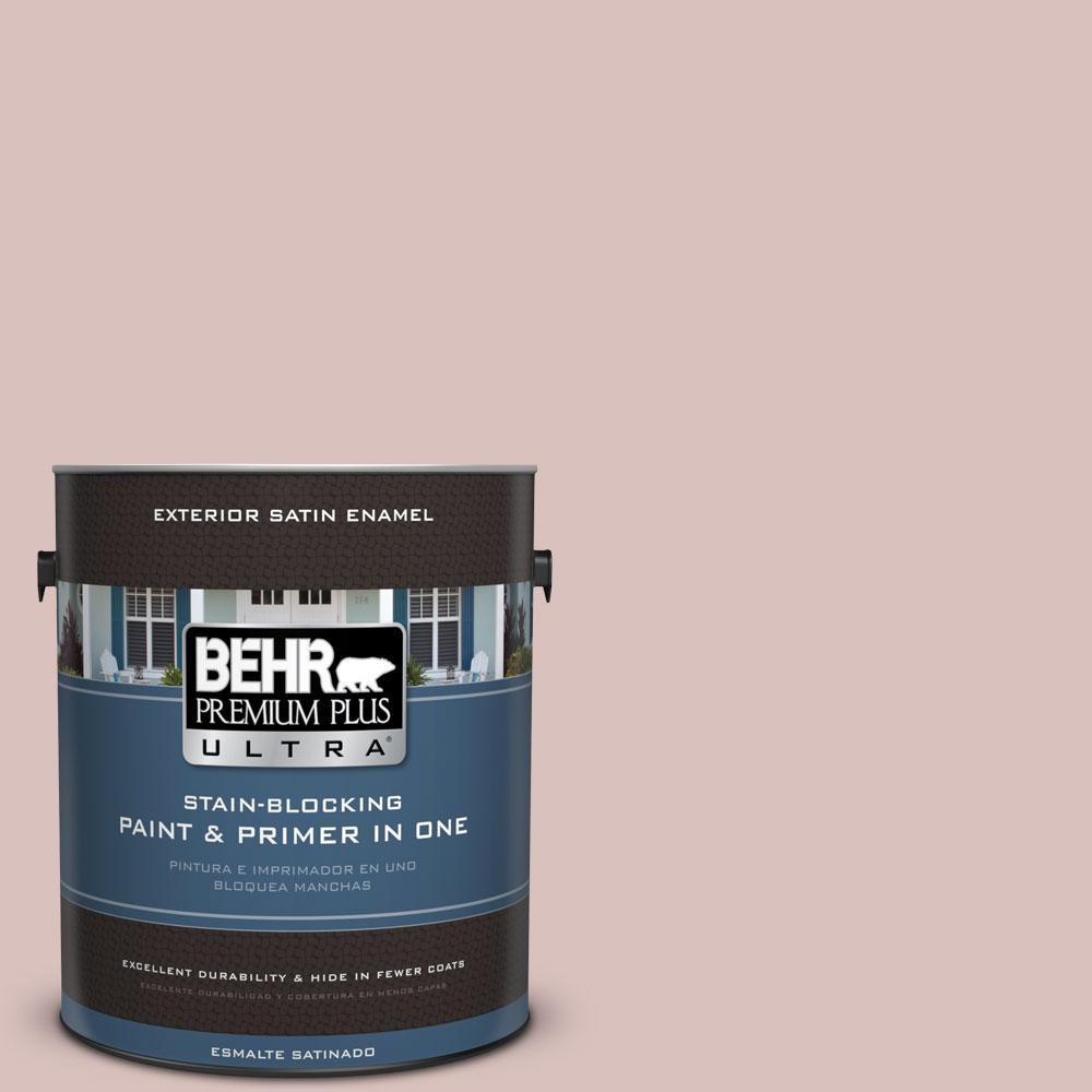 BEHR Premium Plus Ultra 1-gal. #PPU17-8 Peony Blush Satin Enamel Exterior Paint