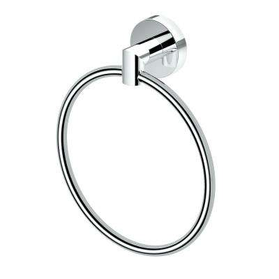 Glam, Towel Ring in Chrome