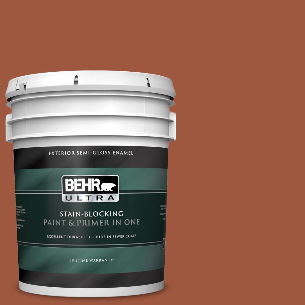 Behr Ultra 5 Gal Home Decorators Collection Hdc Ac 01 Nouveau Copper Semi Gloss Enamel Exterior Paint Primer 585305 The Home Depot