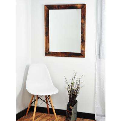 Rectangle Mahogany Decorative Wall Mirror