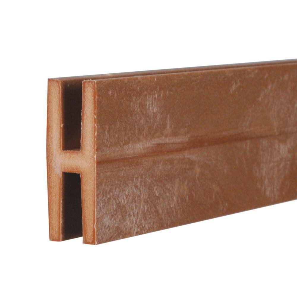 0.75 in. x 2 in. x 8 ft. Redwood Plastic Lattice Divider