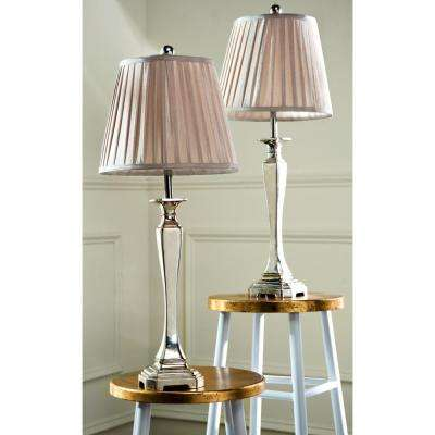Athena 28 in. Silver Table Lamp (Set of 2)