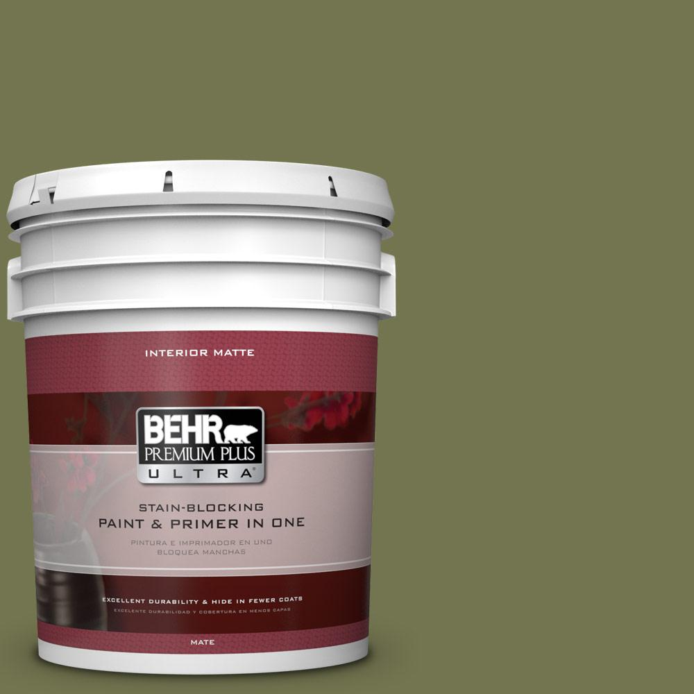 BEHR Premium Plus Ultra 5 gal. #S360-6 Secret Meadow Matte Interior Paint