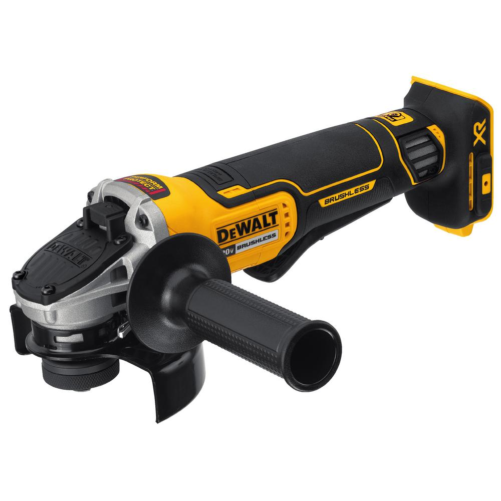 DEWALT 20-Volt MAX XR Lithium-Ion Cordless Brushless 4-1/2 in. Paddle Switch Small Angle Grinder w/ Kickback Brake (Tool-Only)