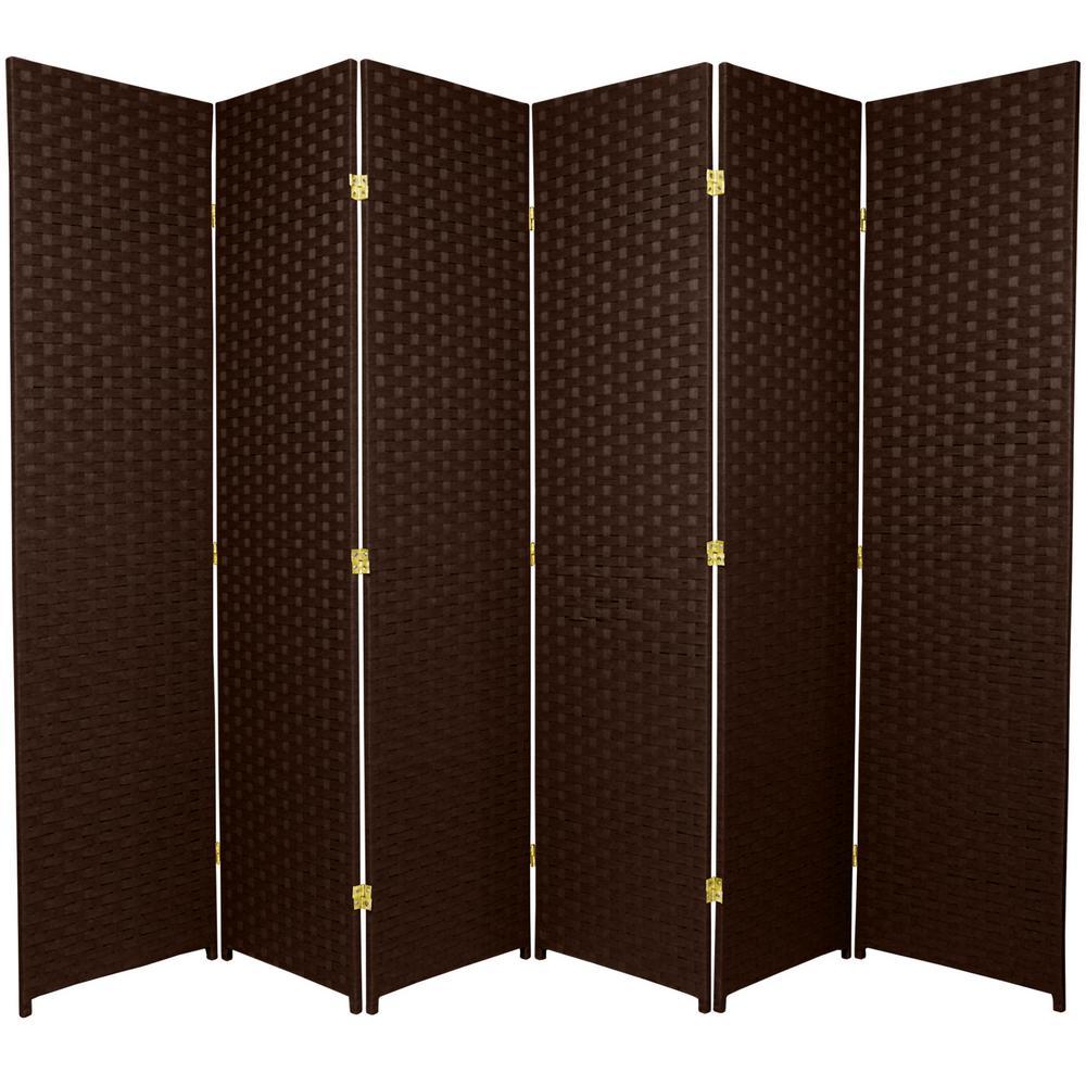 6 ft. Dark Mocha 6-Panel Room Divider