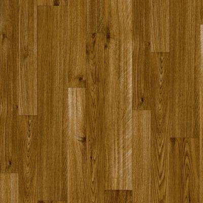 Take Home Sample - Chestnut Brown Residential Vinyl Sheet Flooring - 6 in. x 9 in.