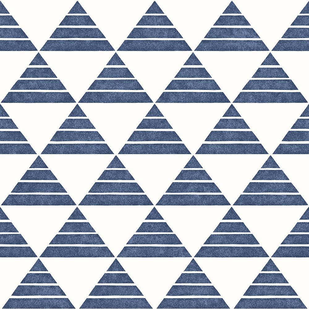 Summit Blue Triangle Wallpaper