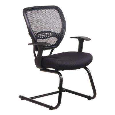 Black AirGrid Back Visitor Office Chair