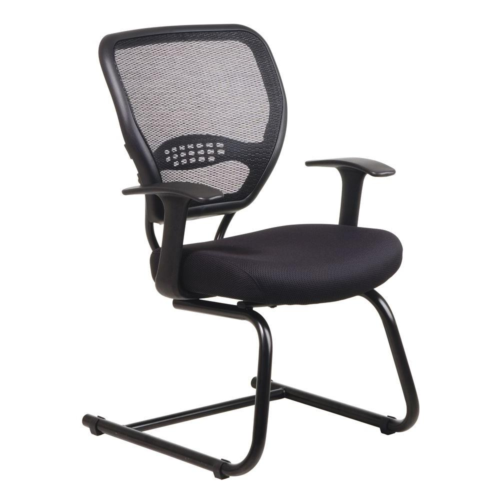 Space Seating Black AirGrid Back Visitor Office Chair