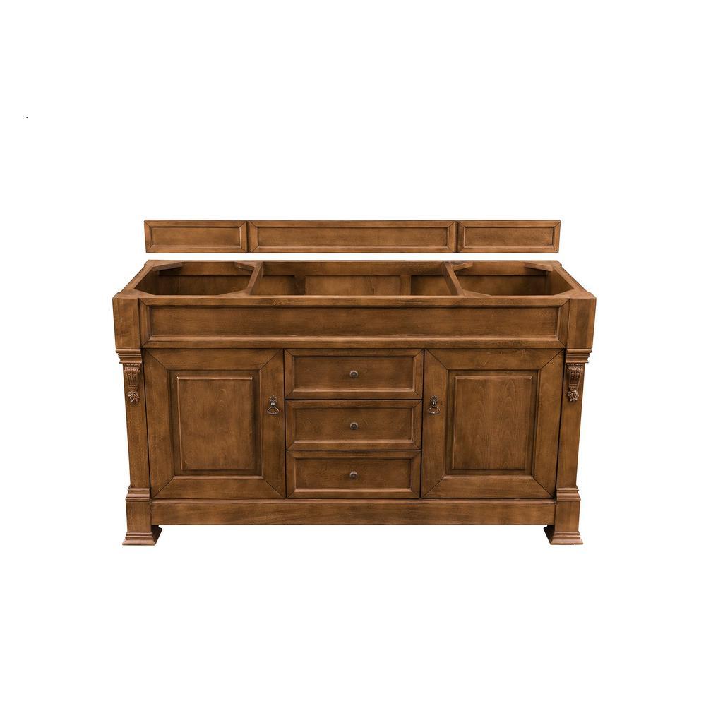 Brookfield 60 in. W Bathroom Single Vanity Cabinet Only in Country Oak