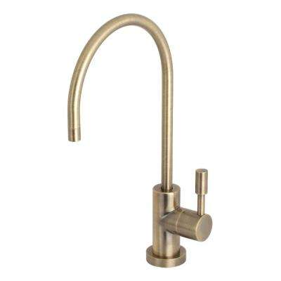 Replacement Drinking Water Single-Handle Beverage Faucet in Vintage Brass for Filtration Systems