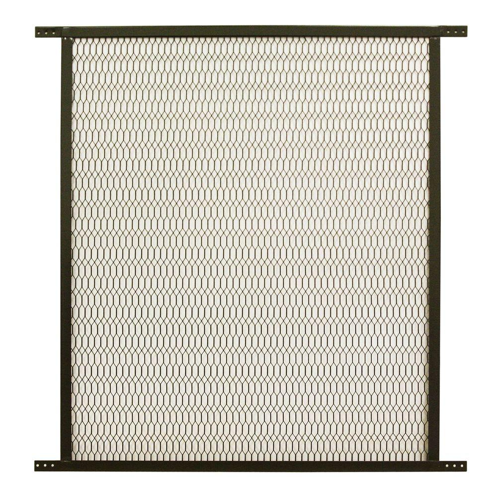 Unique Home Designs 30 in. x 30 in. Bronze Steel Pet Grille