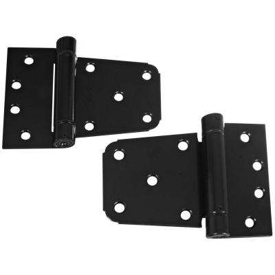 3-1/2 in. Black Heavy Duty Auto-Close Gate Hinge Set