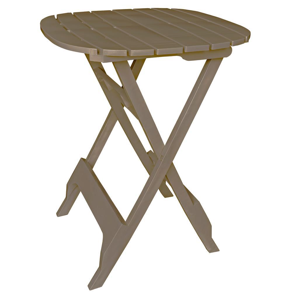 Quik Fold Portobello Resin Plastic Outdoor Bistro Table
