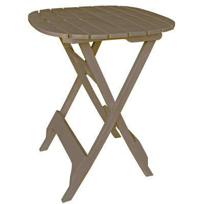 40 in. Quik-Fold Portobello Resin Plastic Outdoor Bistro Table