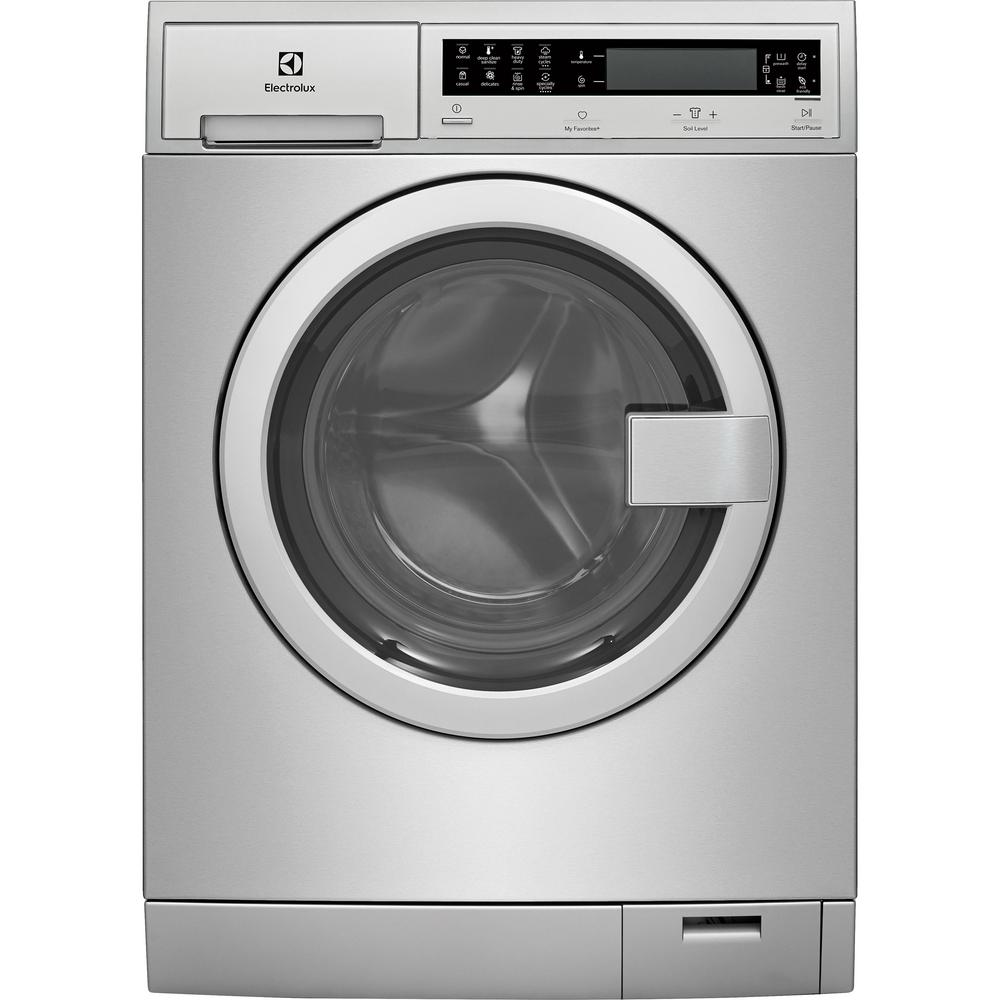 Electrolux IQ Touch 24 in  W 2 4 cu  ft  High Efficiency Front Load Washer  with Steam in Stainless Steel, ENERGY STAR