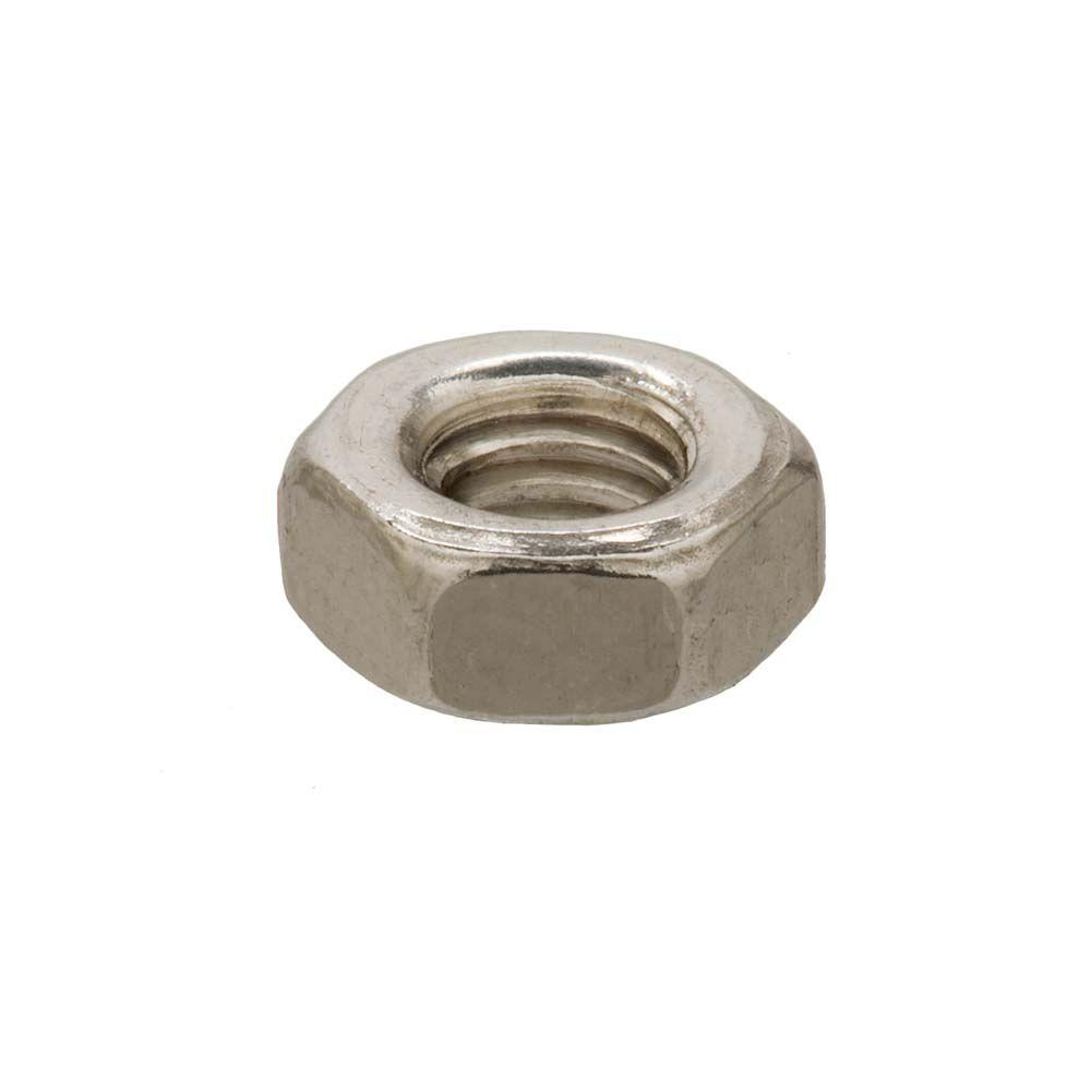 Everbilt 6 mm-1.0 Stainless-Steel Metric Hex Nut (2-Pieces)