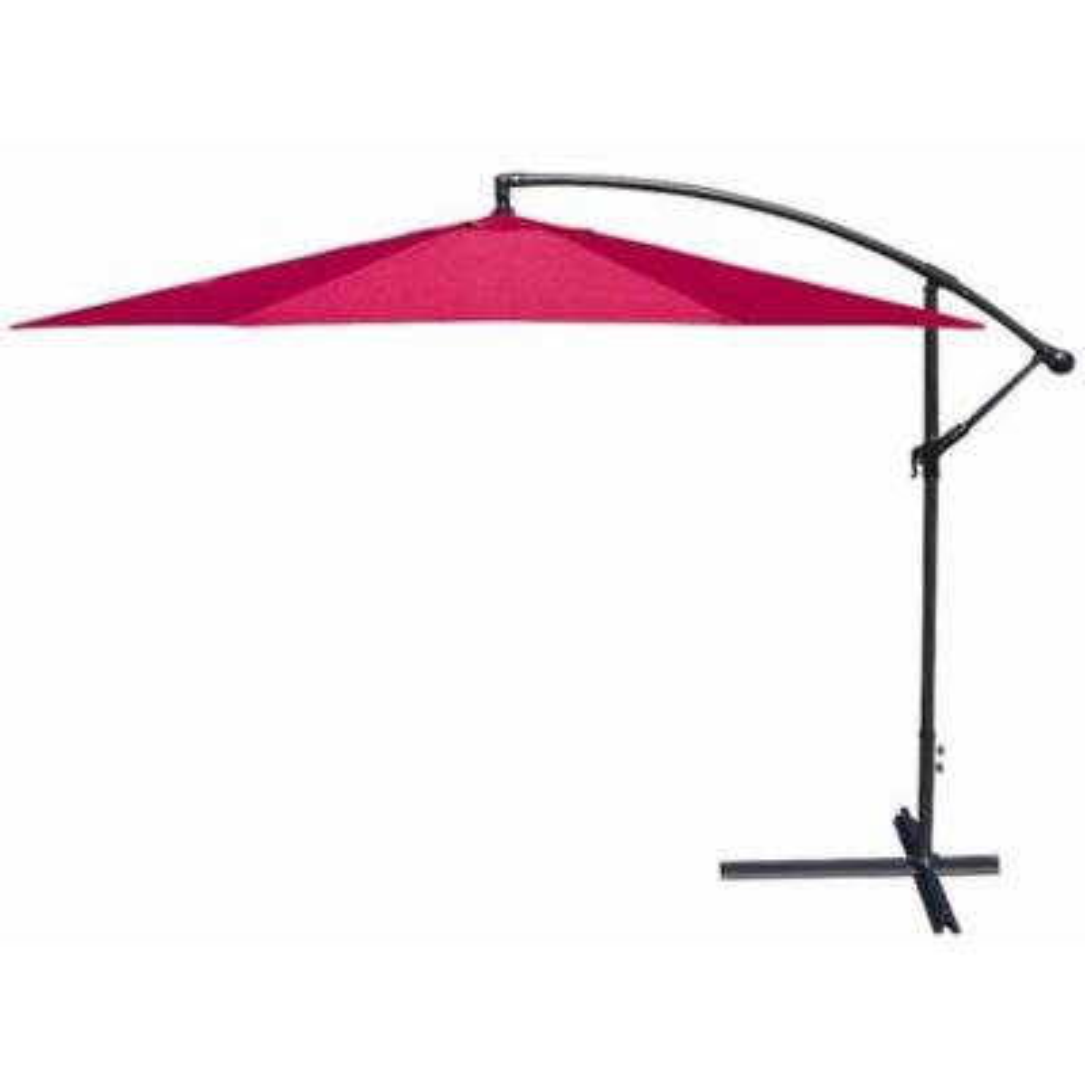 10 ft. Aluminum Outdoor Hanging Market Patio Umbrella in Red