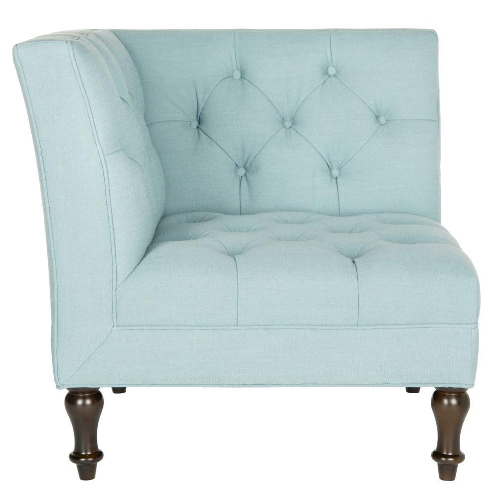 Safavieh Jack Sky Blue Corner Chair Home Decor Accent