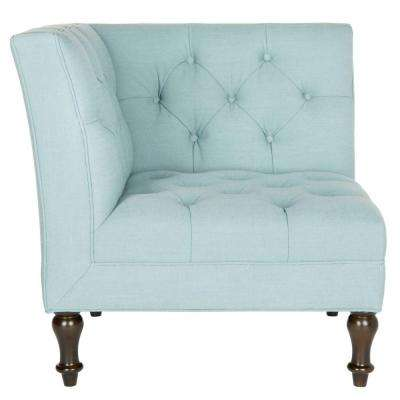 Jack Sky Blue/Espresso Linen/Polyester Side Chair