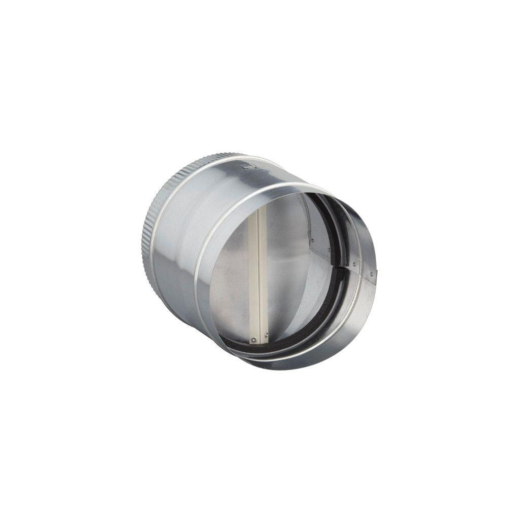 8 in. Round In-Line Damper for Range Hoods and Bathroom Exhaust