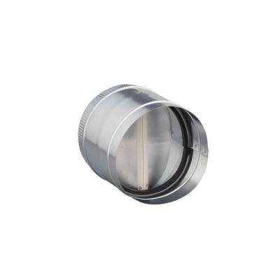 8 in. Round In-Line Damper for Range Hoods and Bathroom Exhaust Fans