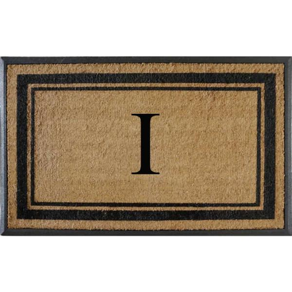 A1hc First Impression Markham Border 29 5 In X 47 In Coir Double Monogrammed I Door Mat A1home200102 I The Home Depot