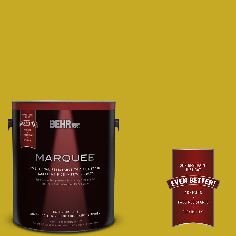 BEHR MARQUEE Home Decorators Collection 1-gal. #HDC-MD-03 Citronette Flat Exterior Paint
