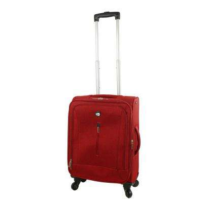 Tena 20 in. Red Carry-On Soft Side Spinner Suitcase