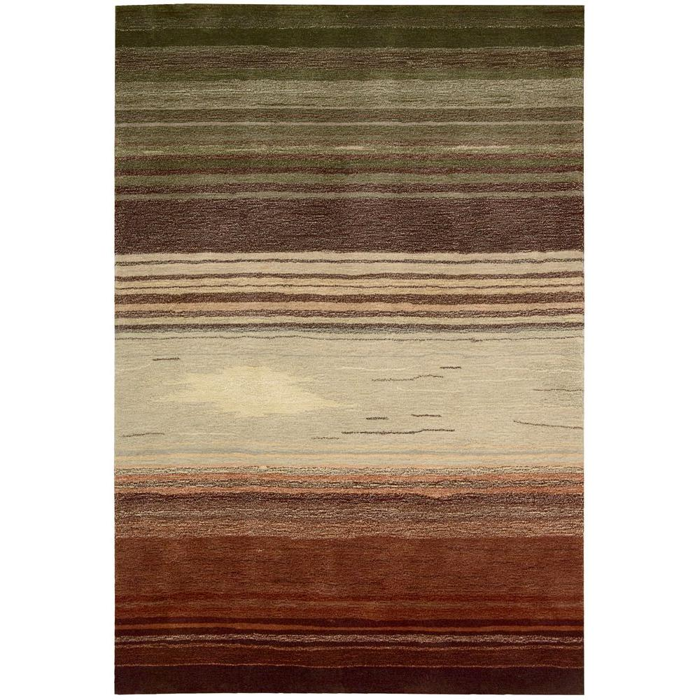 Nourison Tequila Sunrise Forest 7 ft. 3 in. x 9 ft. 3 in. Area Rug