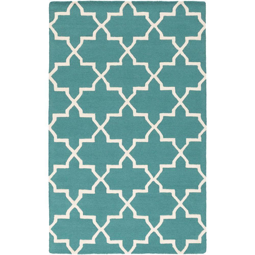 Pollack Keely Teal 5 ft. x 8 ft. Indoor Area Rug