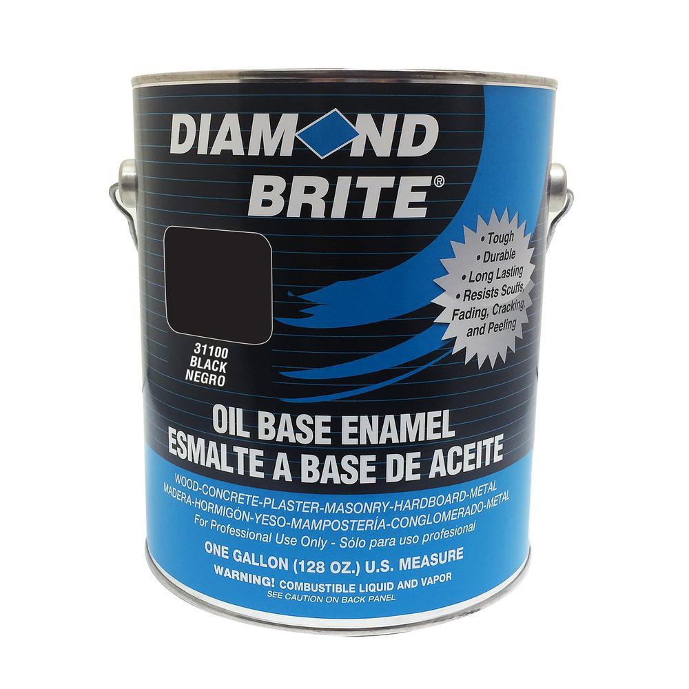 Diamond Brite Paint 1 gal. Black Oil Base Enamel Interior/Exterior Paint