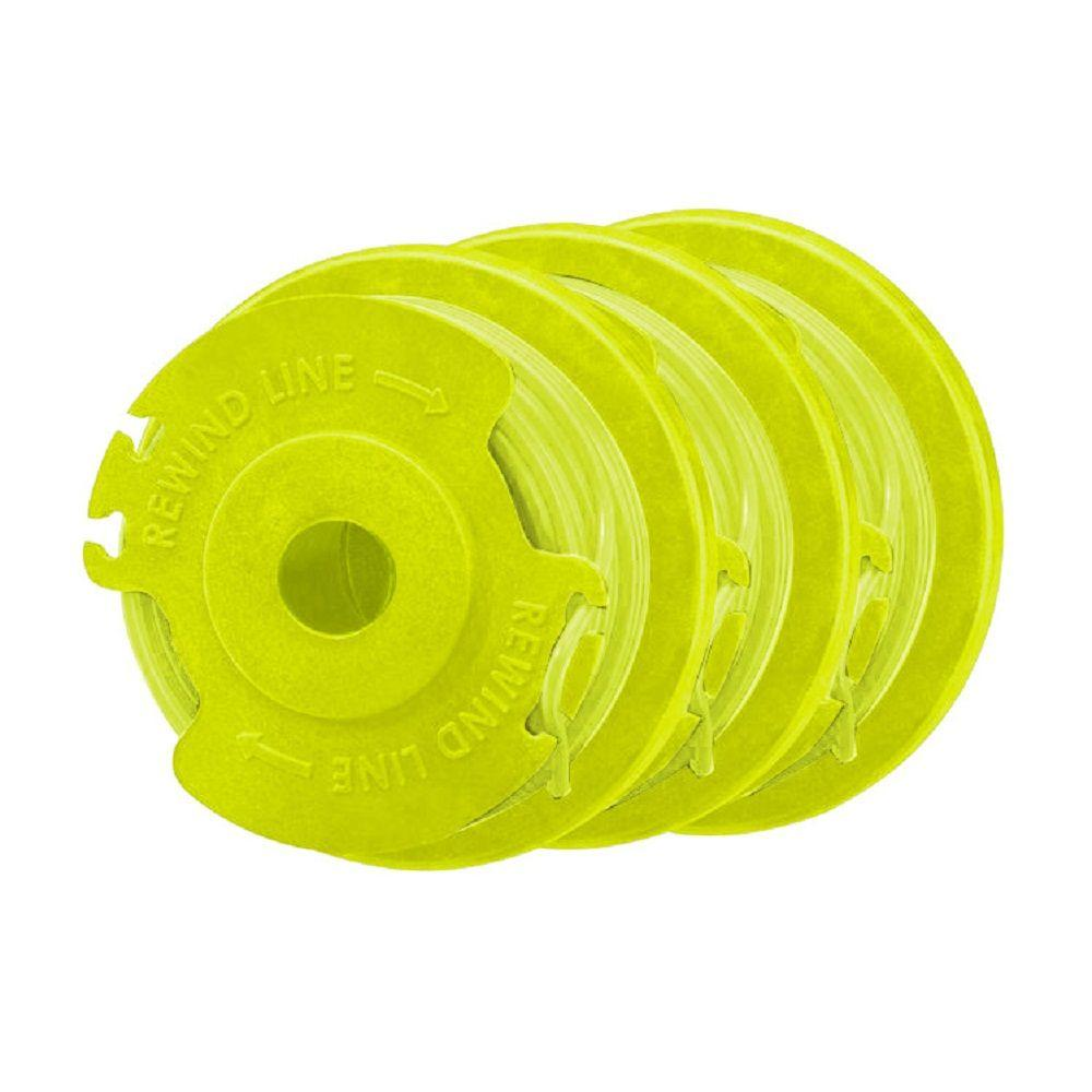 RYOBI Replacement Twisted 0.080 in. Auto Feed Line Spools (3-Pack)