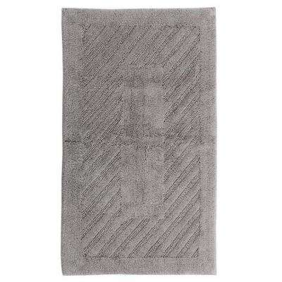Silver 21 in. x 34 in. Diagonal Racetrack Reversible Bath Rug