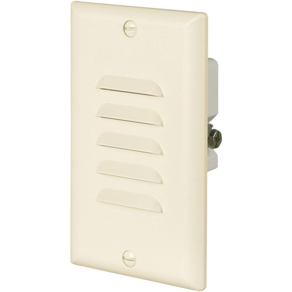 eaton 15 amp 120volt led stoplight with vertical and horizontal louvered wall plate