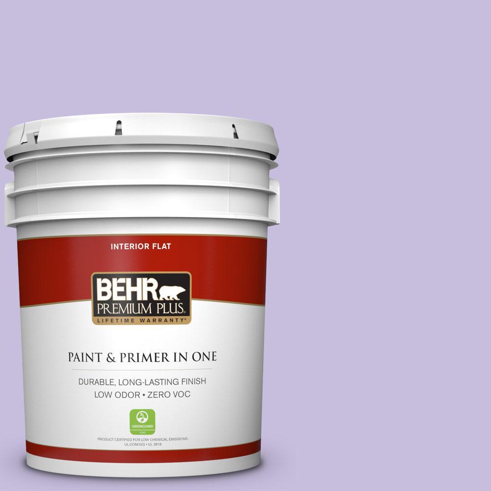 BEHR Premium Plus 5-gal. #640B-4 Innuendo Zero VOC Flat Interior Paint