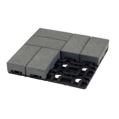 4 in. x 8 in. Waterwheel Composite Standard Paver Grid System (8 Pavers and 1 Grid)