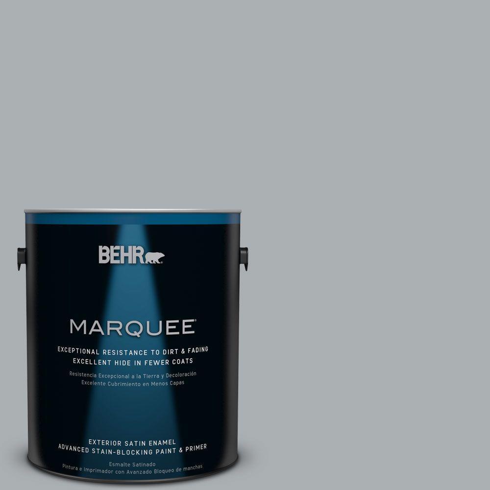BEHR MARQUEE 1-gal. #N500-3 Tin Foil Satin Enamel Exterior Paint
