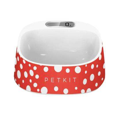 15 oz. Fresh Smart Digital Feeding Pet Dog and Cat Bowl in Red