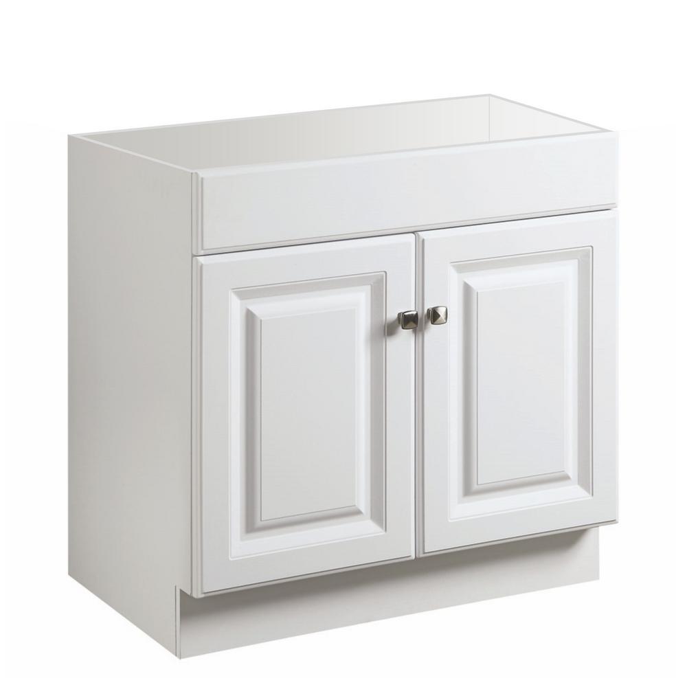 Glacier Bay Hampton 30 In W X 21 In D X 33 5 In H Bath Vanity Cabinet Only In White Hwh30d