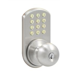 Electronic Keypad Door Lock Home Depot Kwikset Round Oil