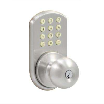 Satin Nickel Touch Pad Electronic Entry Knob