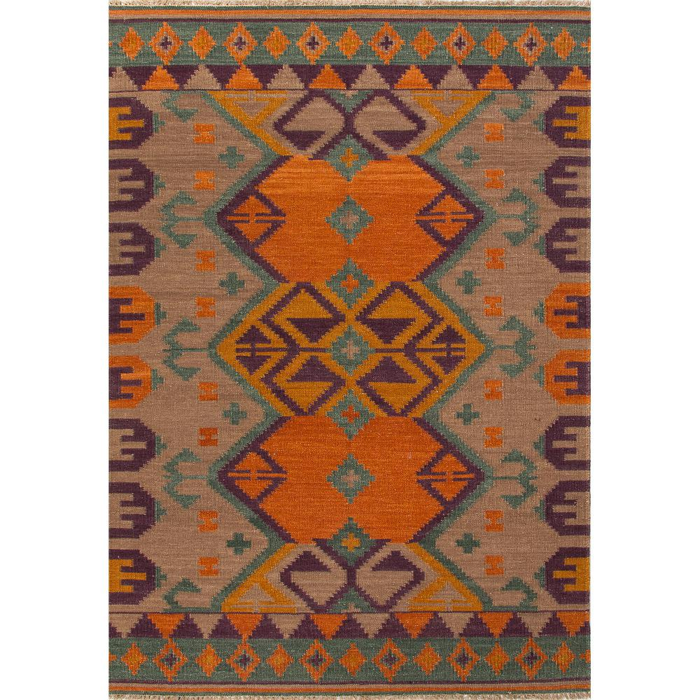 Jaipur Living Flat Weave Burnt Orange 4 Ft X 6 Tribal Area