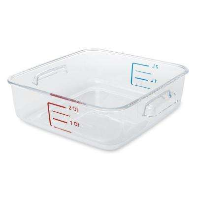 2 Qt. Clear Space Saving Square Container