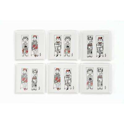 Mary Blair Commuters Appetizer Plates (Set of 6)